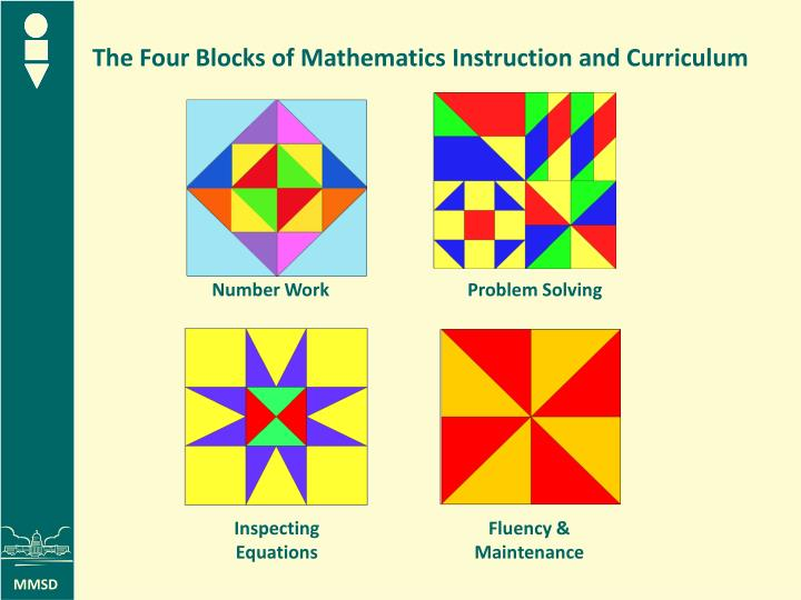 The Four Blocks of Mathematics Instruction and Curriculum