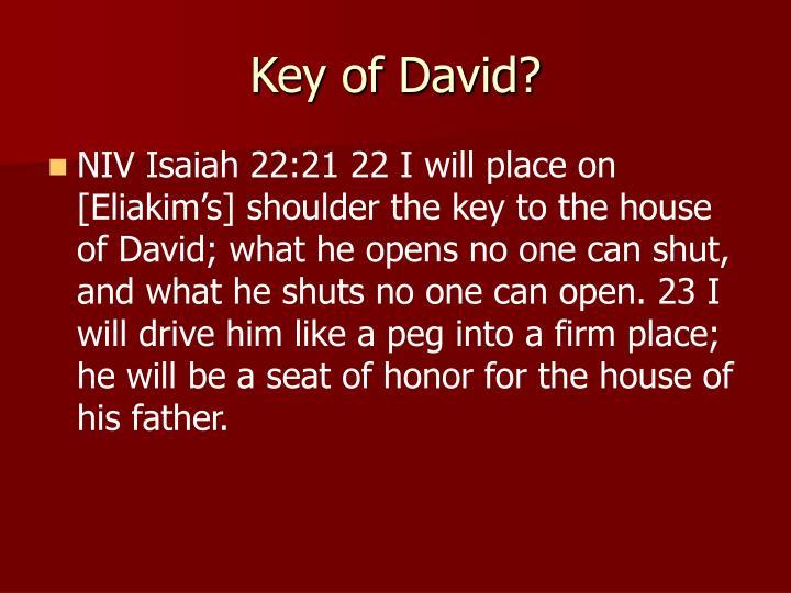 Key of David?