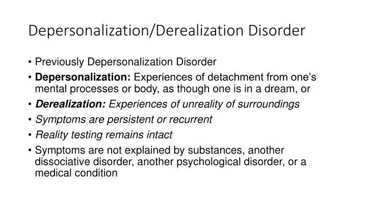 Depersonalization/