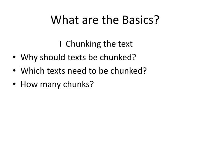 What are the Basics?