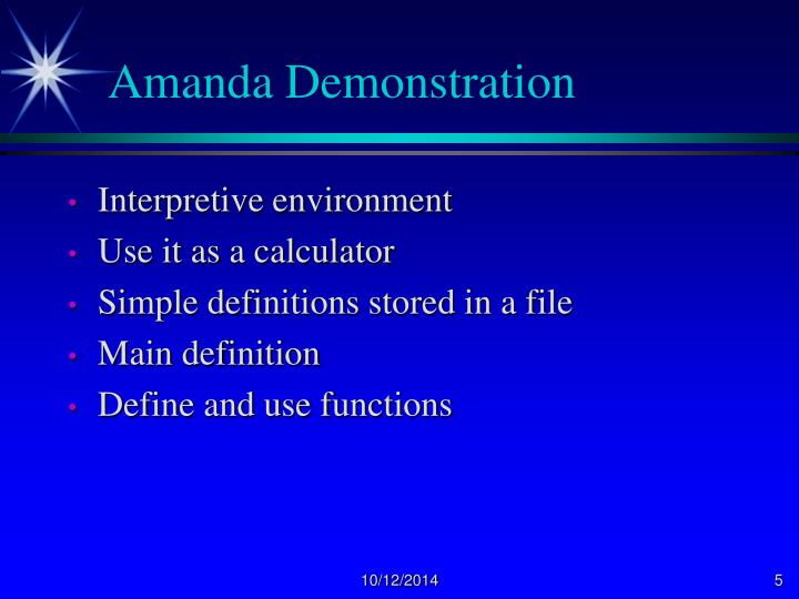 Amanda Demonstration