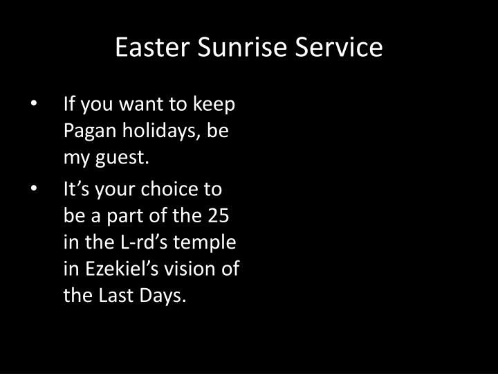 If you want to keep Pagan holidays, be my guest.