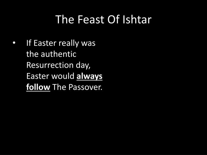 If Easter really was the authentic Resurrection day, Easter would
