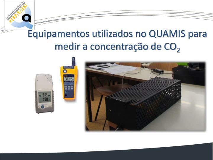 Equipamentos utilizados no QUAMIS para medir a concentração de CO