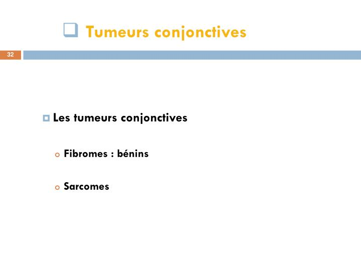 Tumeurs conjonctives