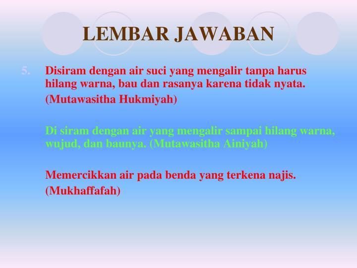 LEMBAR JAWABAN
