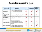 tools for managing risk5