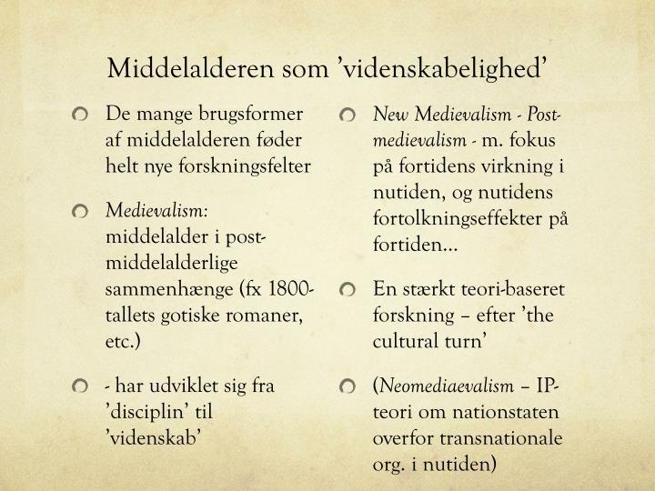 Middelalderen som