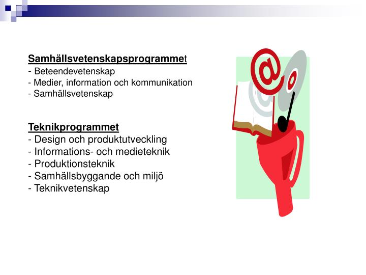 Samhällsvetenskapsprogramme