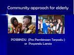 community approach for elderly