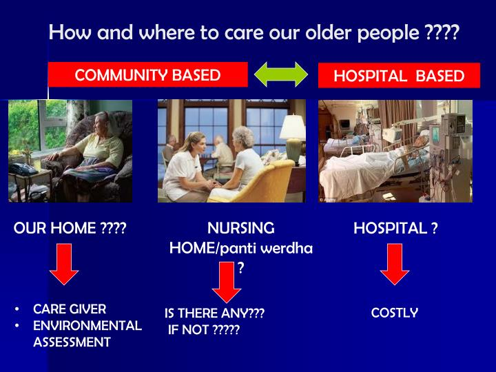 How and where to care our older people ????