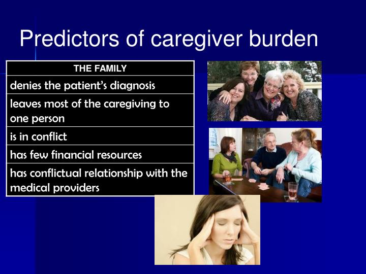 Predictors of caregiver burden