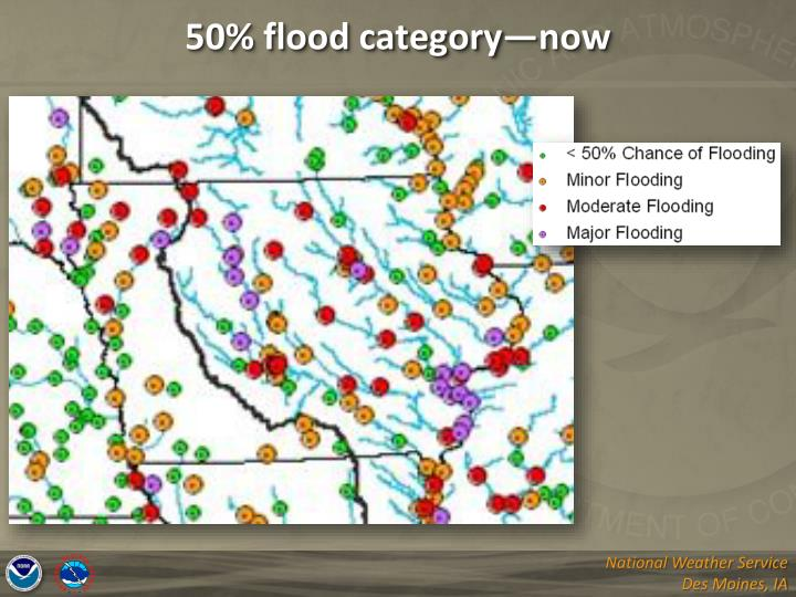 50% flood category—now