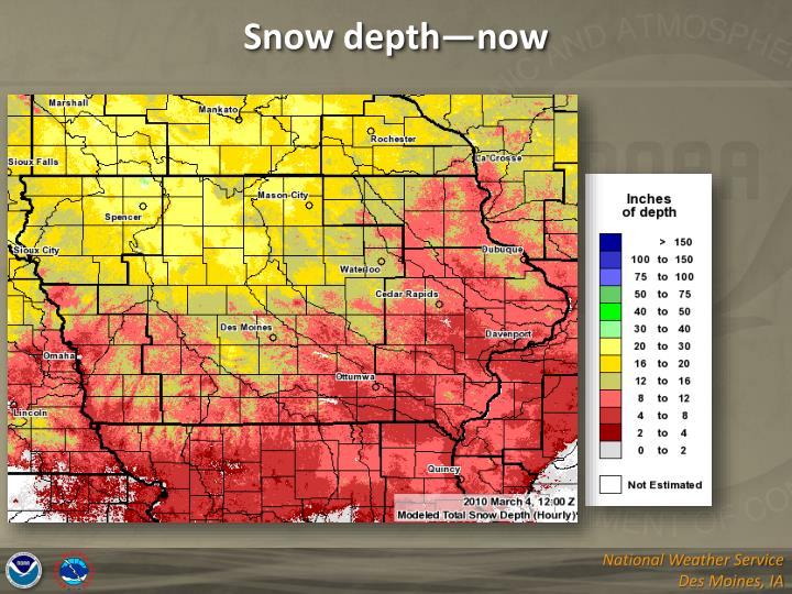 Snow depth—now