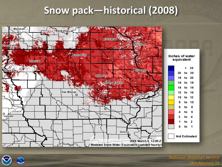 Snow pack—historical (2008)