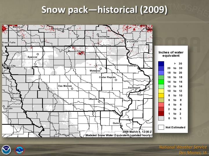 Snow pack—historical (2009)