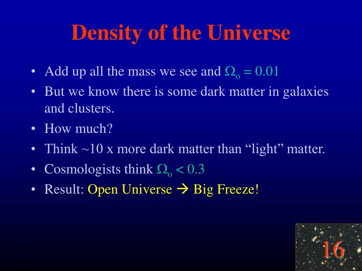 Density of the Universe