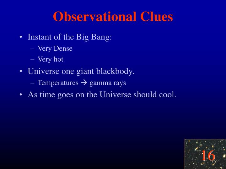 Observational Clues