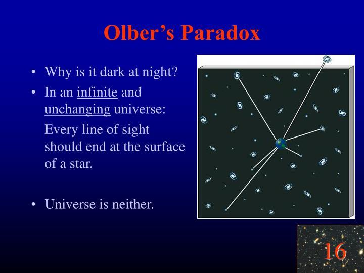 Olber's Paradox