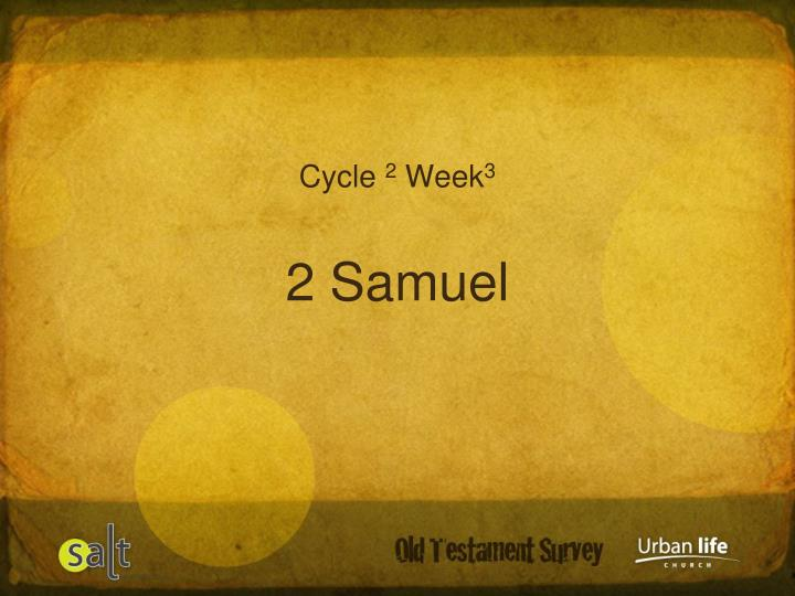 Cycle 2 week 3