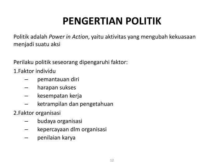 PENGERTIAN POLITIK