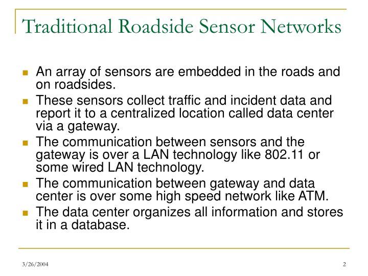Traditional Roadside Sensor Networks