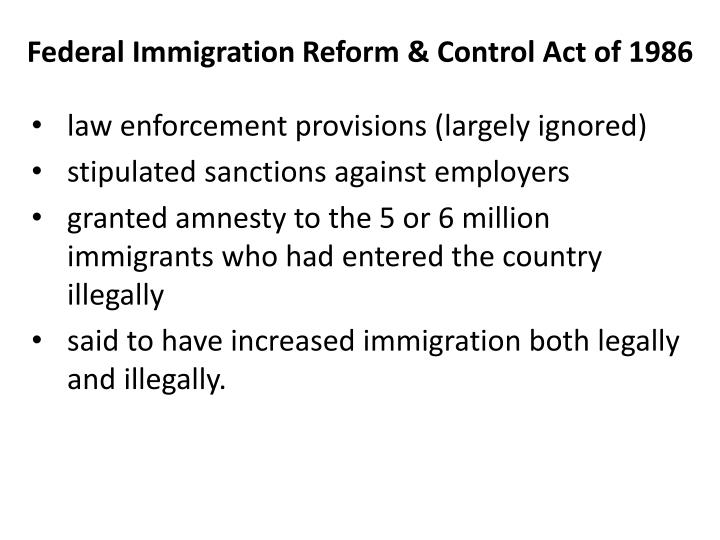 Federal Immigration Reform