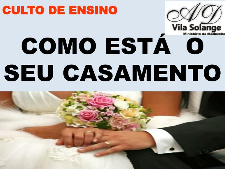 CULTO DE ENSINO