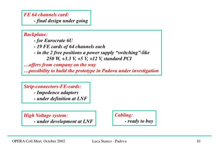 FE 64 channels card: