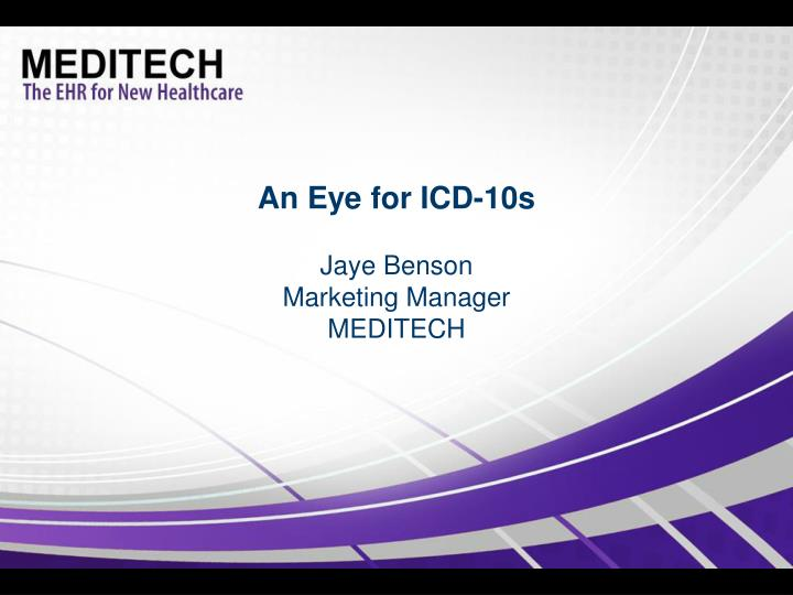 An eye for icd 10s