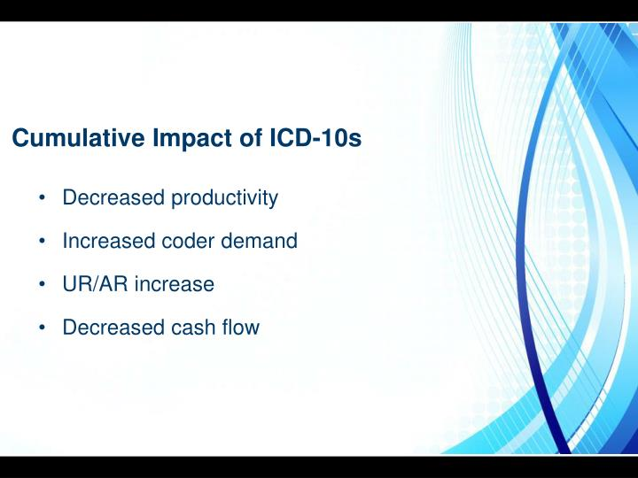 Cumulative Impact of ICD-10s
