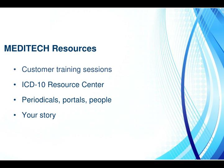 MEDITECH Resources