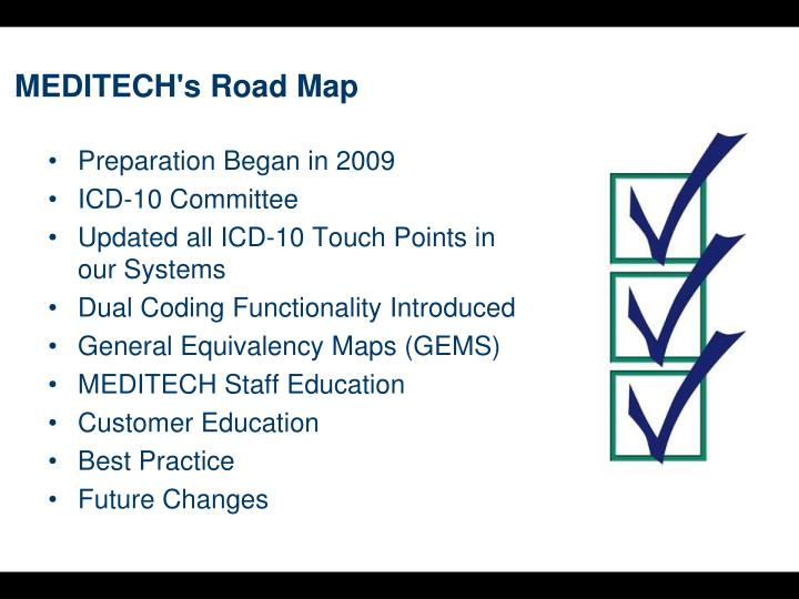 MEDITECH's Road Map