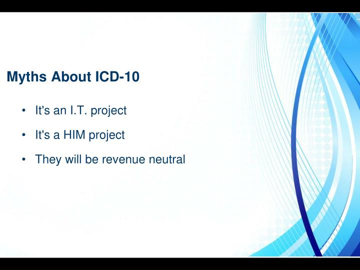 Myths About ICD-10