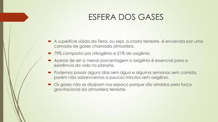ESFERA DOS GASES