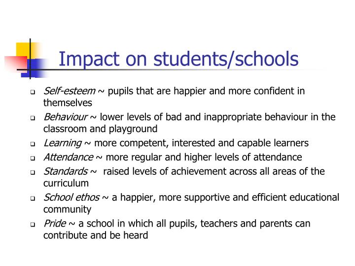 Impact on students/schools