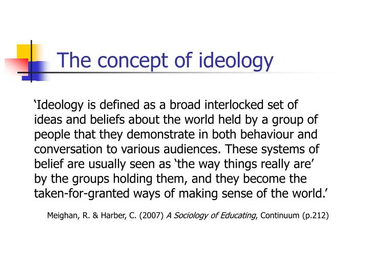 The concept of ideology