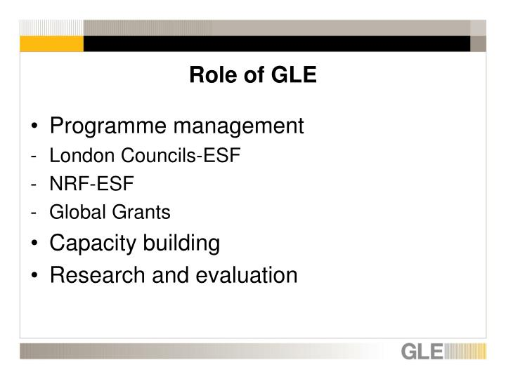 Role of GLE