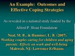 an example outcomes and effective coping strategies