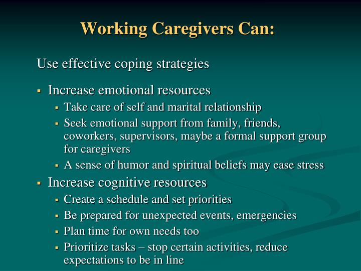 Working Caregivers Can: