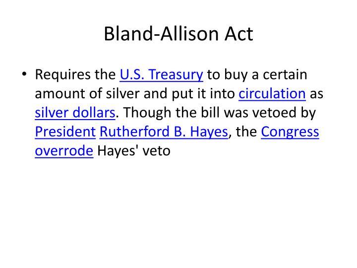 Bland-Allison Act