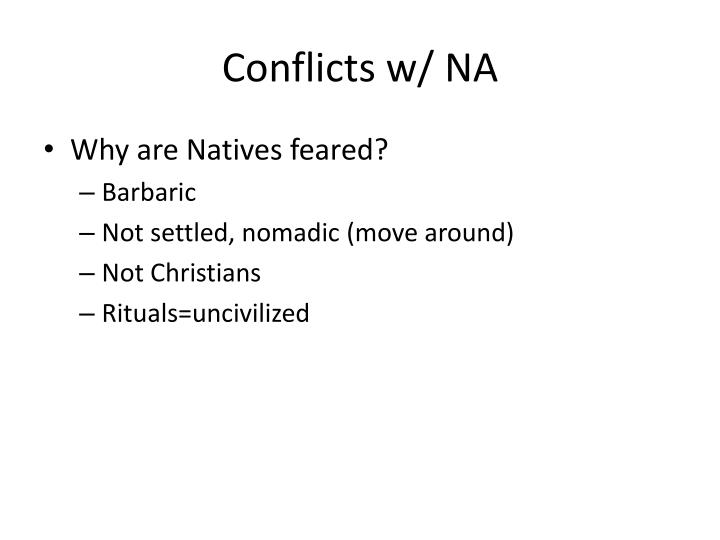 Conflicts w/ NA