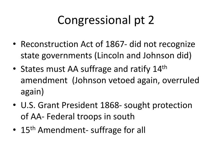 Congressional pt 2