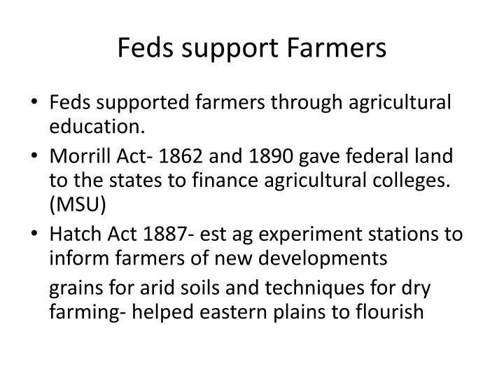 Feds support Farmers