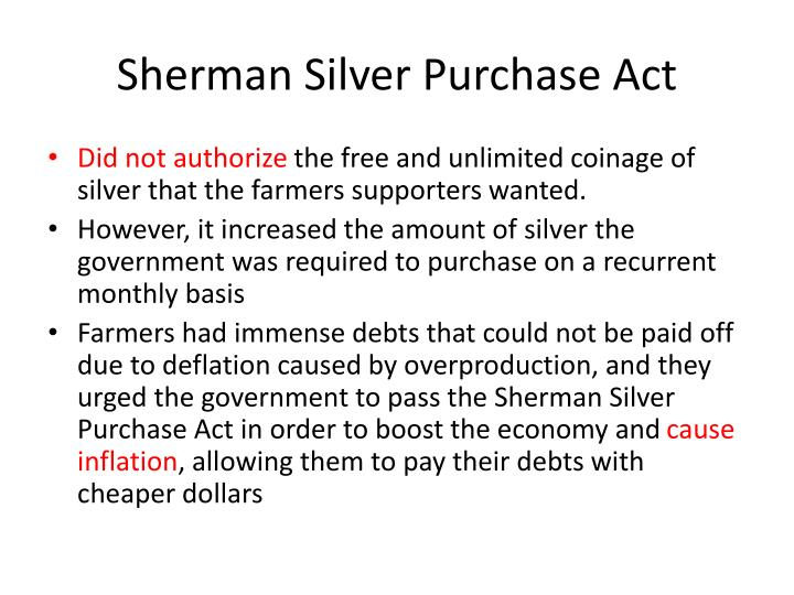 Sherman Silver Purchase Act