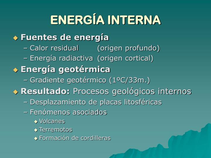 ENERGÍA INTERNA