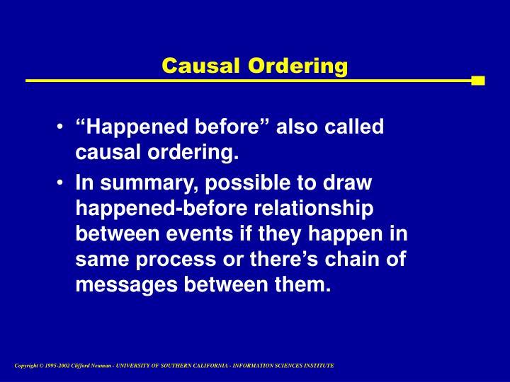 Causal Ordering