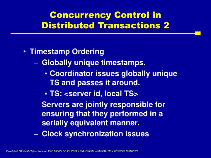 Concurrency Control in Distributed Transactions 2