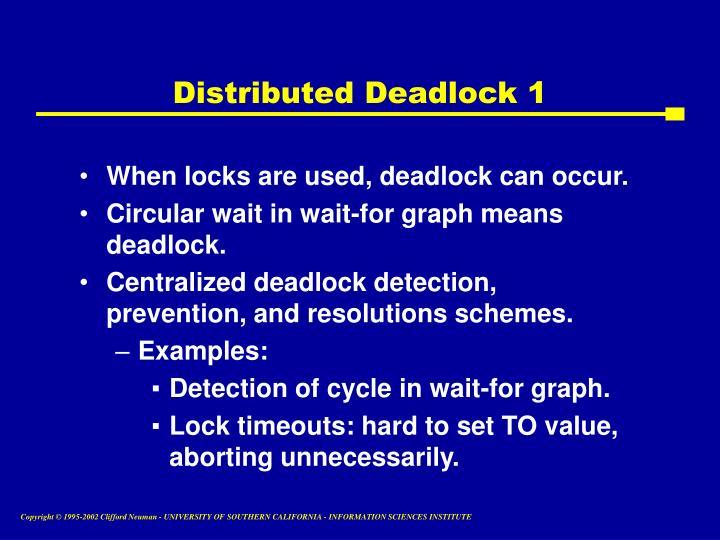 Distributed Deadlock 1