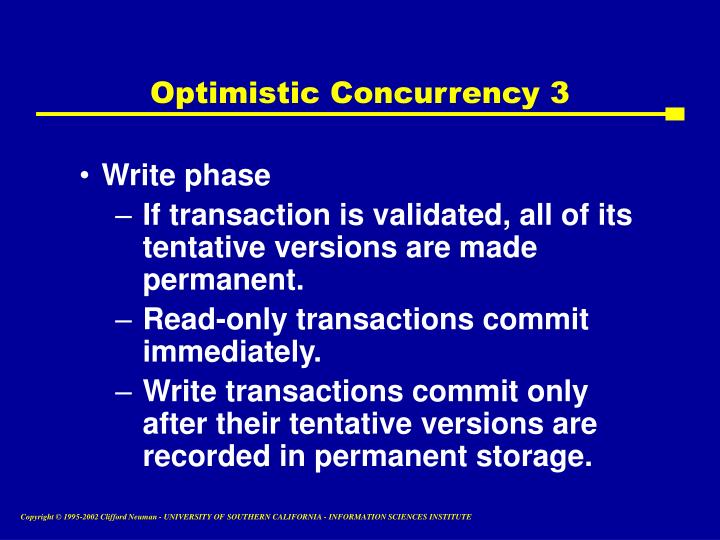 Optimistic Concurrency 3